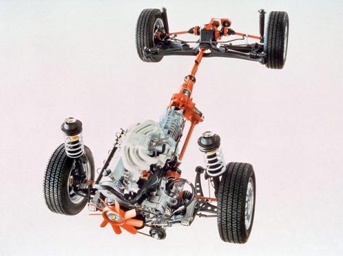 Принципиальное устройство машины с полным приводом