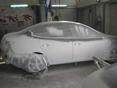 Грунтовка автомобиля