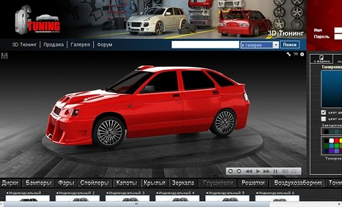 Тюнинг автомобилей на компьютере виртуальный тюнинг автозвук тюнинг ваз2112