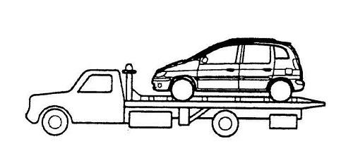 Перемещение авто с АКПП