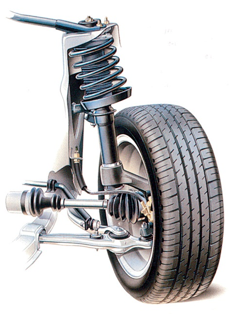 Несущий узел переднего колеса