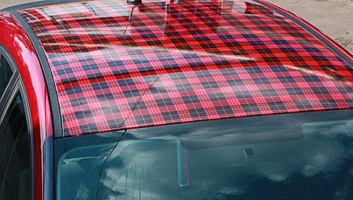 Оклейка винилом крыши автомобиля