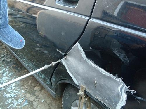 Геометрия поврежденного автомобиля