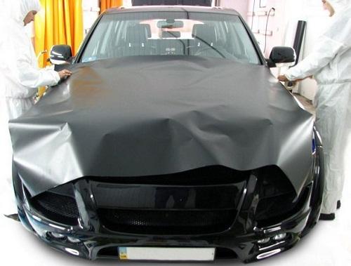 Черная матовая пленка для оклейки авто