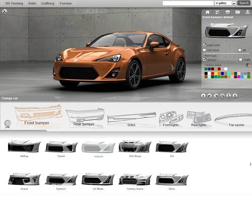 Модернизация авто в формате 3d