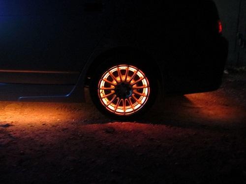 Освещение колес авто своими руками